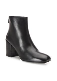 Stuart Weitzman Bacari Leather Block Heel Booties