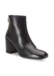 Stuart Weitzman Bacari Leather Block Heel Booties