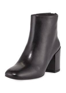 Stuart Weitzman Bacari Leather Chunky-Heel Bootie