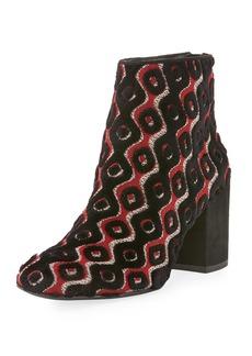 Stuart Weitzman Bacari Tapestry Chunky-Heel Booties