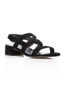 Stuart Weitzman Barrio Cutout Low Heel Sandals