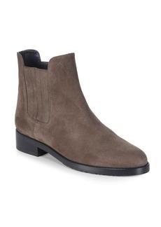 Stuart Weitzman Basilico Textured Suede Chelsea Boots