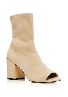 Stuart Weitzman Bigkoko Open Toe High Heel Booties