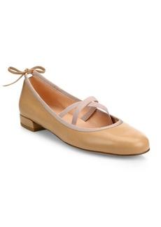 Stuart Weitzman Bolshoi Leather Ballet Flats