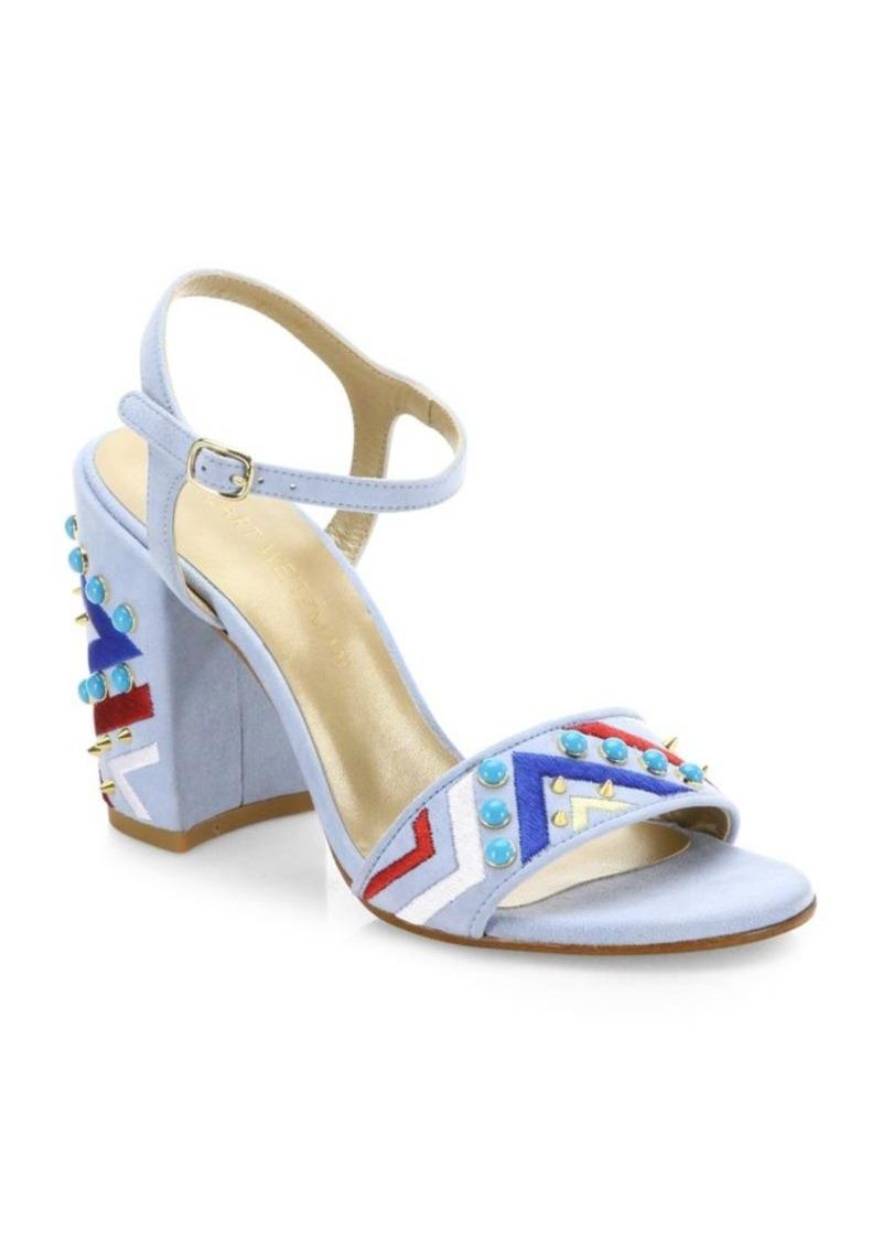 63573eed274 Stuart Weitzman Stuart Weitzman Both Embellished Suede Ankle Strap ...
