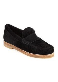 Stuart Weitzman Bromley Shearling Fur Loafers