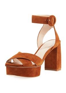 Stuart Weitzman Carmina Suede Platform Sandal