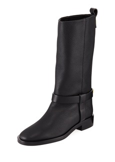 Stuart Weitzman Casey Chic Leather Mid-Calf Boots