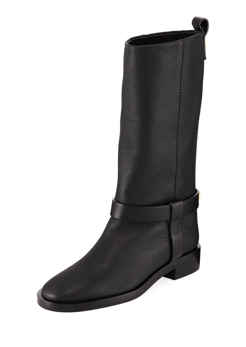 Stuart Weitzman Casey Chic Leather Mid-Calf Boots