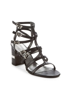 Stuart Weitzman Chariot Leather Cage Sandals