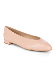 Stuart Weitzman Chicflat Leather Ballet Flats