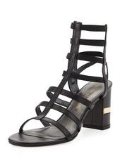 Stuart Weitzman Cleo Strappy Leather Sandal