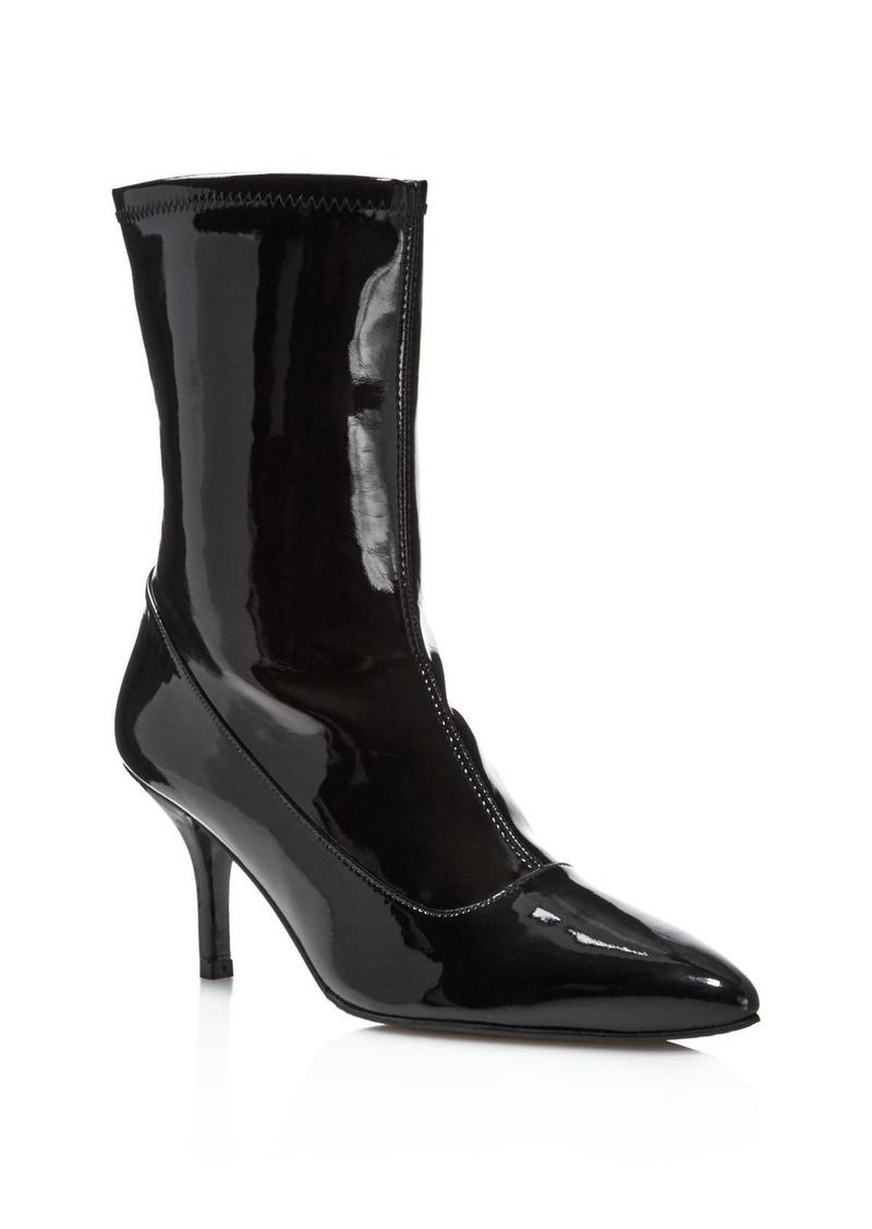 under $60 cheap online Stuart Weitzman Patent Leather Pointed-Toe Booties cheap footlocker finishline sale buy low shipping fee sale online 100% authentic cheap price OvQ8B