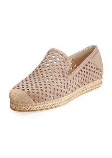 Stuart Weitzman County Perforated Espadrille Flat