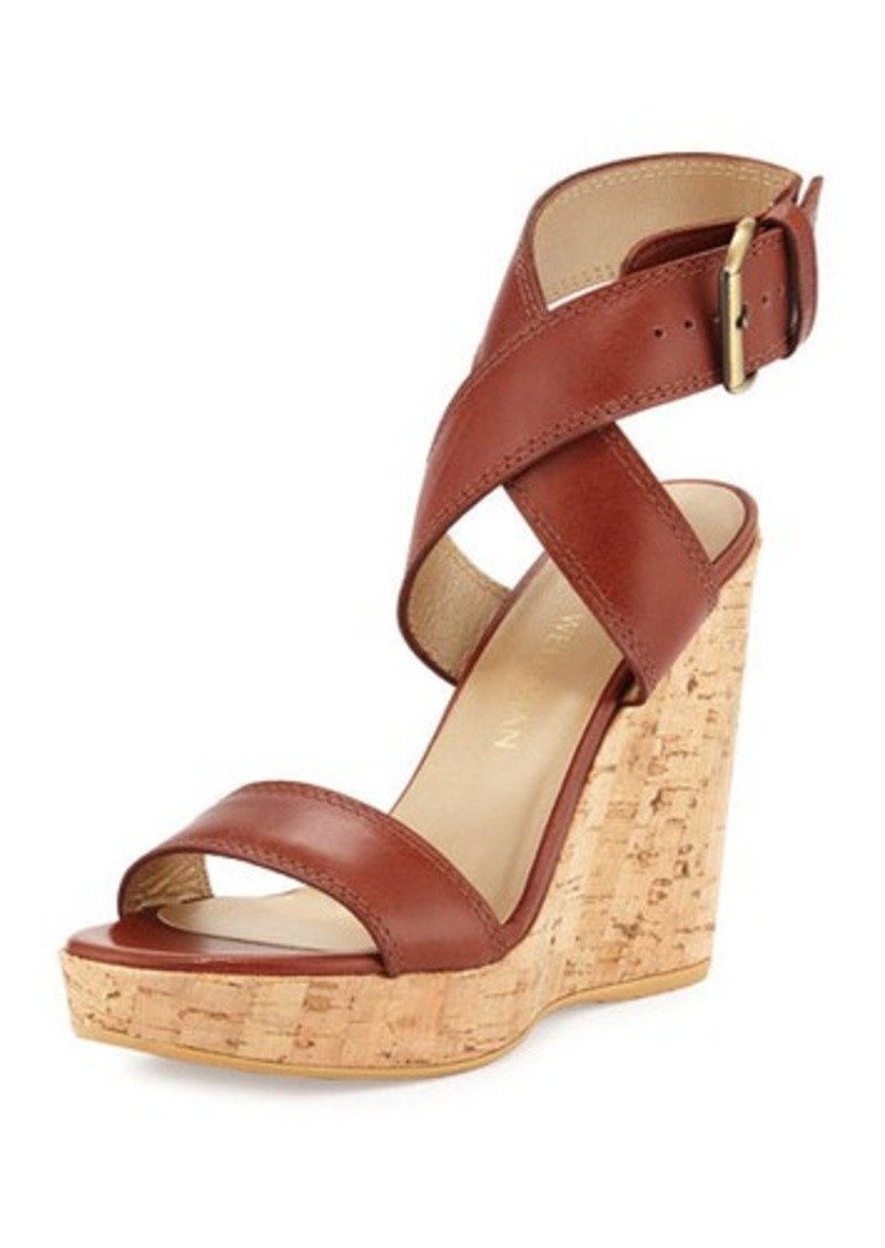 cheap sale outlet free shipping popular Stuart Weitzman Nubuck Crossover Sandals outlet discount sale outlet for sale cheap price buy discount m2uZGBF