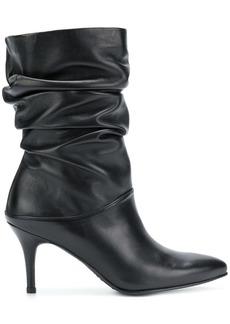 Stuart Weitzman 'crushchippy' nappa boots - Black