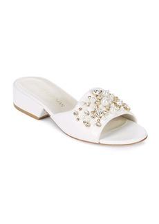Stuart Weitzman Decor Embellished Slide Sandals