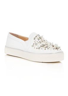Stuart Weitzman Decor Embellished Slip-On Platform Sneakers