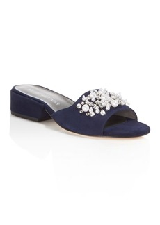 Stuart Weitzman Decorslide Embellished Slide Sandals