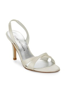 Stuart Weitzman Delovely Satin Slingback Sandals