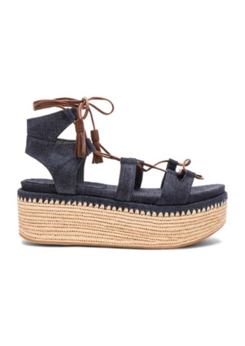 Stuart Weitzman Denim Romaneque Espadrille Sandals