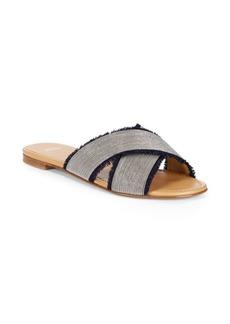 Stuart Weitzman Edgeway Fringe-Trimmed Sandals