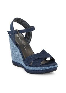 Stuart Weitzman Elevate Open-Toe Wedge Sandals