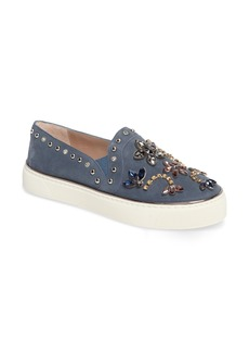 Stuart Weitzman Embellished Slip-On Sneaker (Women)