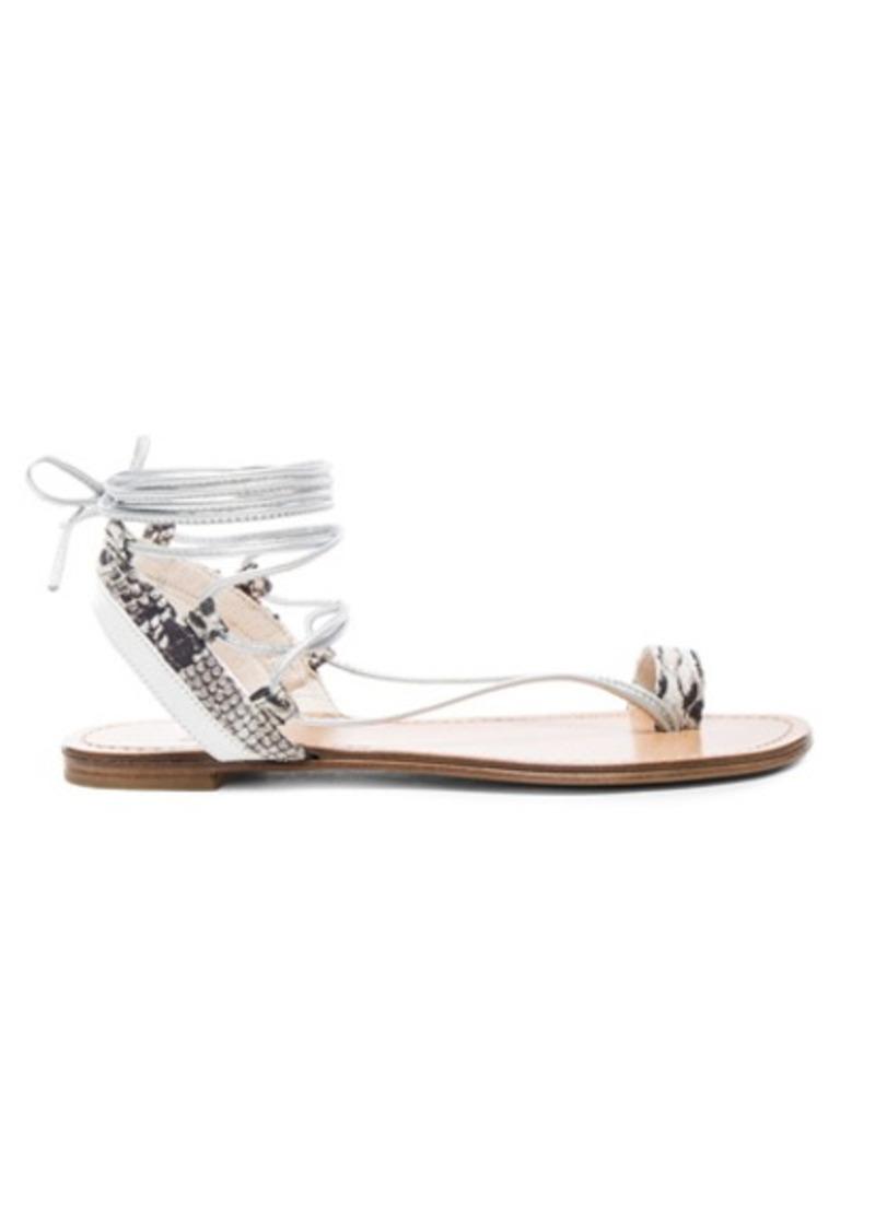 Stuart Weitzman Embossed Lasso Sandals