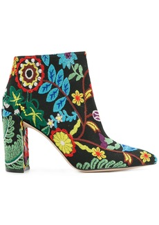 Stuart Weitzman embroidered ankle boots - Multicolour