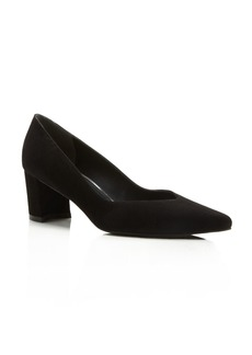 Stuart Weitzman Everyday Suede Pointed Toe Pumps