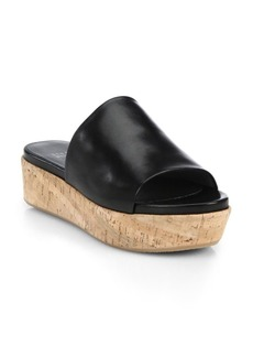 Flatout Leather & Cork Platform Slides
