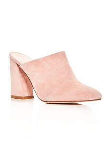 Stuart Weitzman Followup Suede High Heel Mules