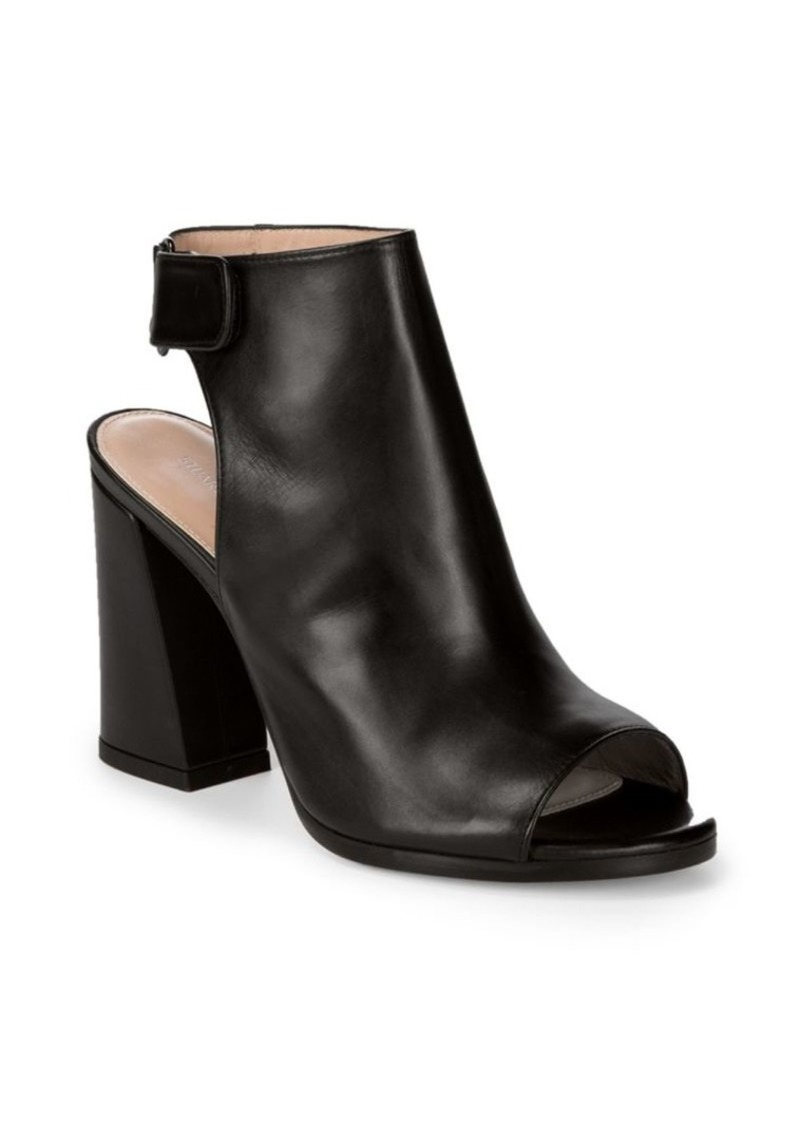 fashionable patterns special sales to buy Front Room Leather Backless Open Toe Ankle Boots