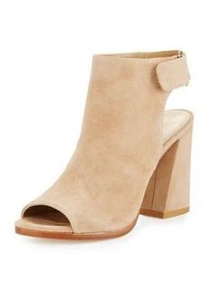 Stuart Weitzman Frontroom Suede Chunky-Heel Sandal