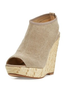 Stuart Weitzman Glover Stretch Wedge Sandal