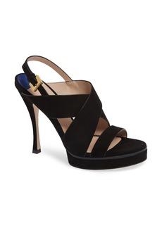 Stuart Weitzman Hester Cross Strap Sandal (Women)