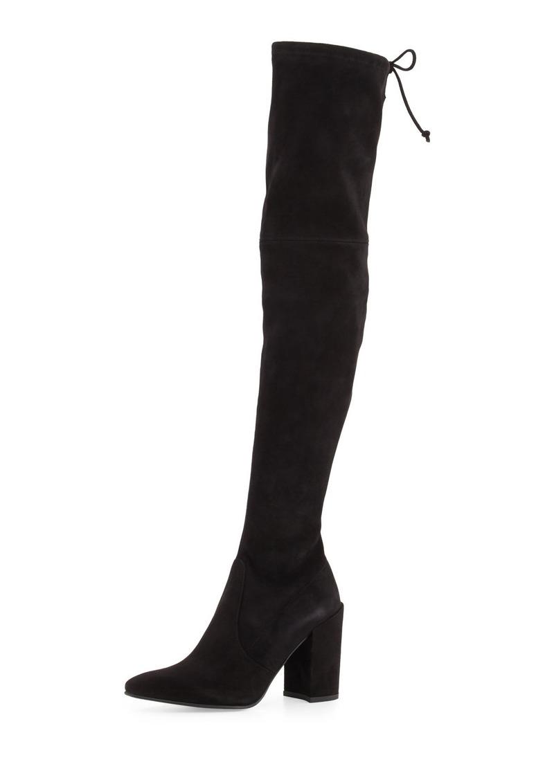 7d899699c93 Highstreet Suede Chunky-Heel Over-The-Knee Boot