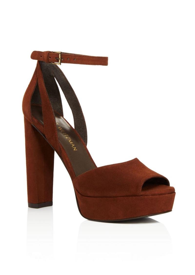 Stuart Weitzman Hijinx High Heel Platform Ankle Strap Sandals