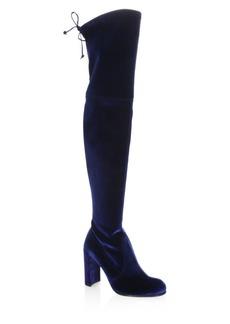 Stuart Weitzman Hiline Over-The-Knee Velvet Boots