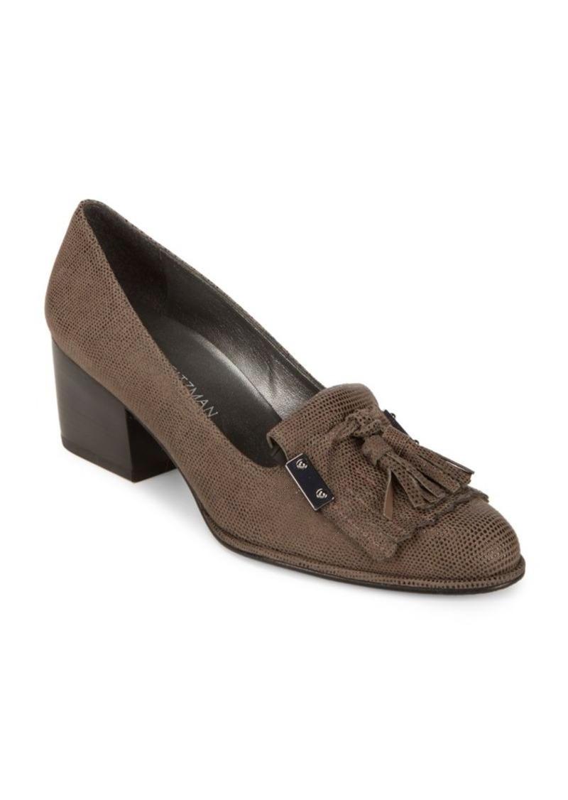 stuart weitzman stuart weitzman hingesmid leather closed toe pumps shoes shop it to me. Black Bedroom Furniture Sets. Home Design Ideas