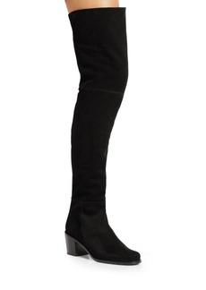 Stuart Weitzman Hitest Suede Over-The-Knee Boots