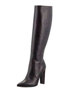 Stuart Weitzman Hyper Pointed-Toe Leather Knee Boot