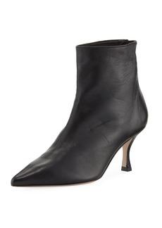 Stuart Weitzman Juniper Leather Mid-Heel Booties