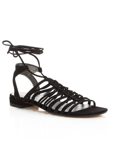 Stuart Weitzman Knotagain Lace Up Sandals
