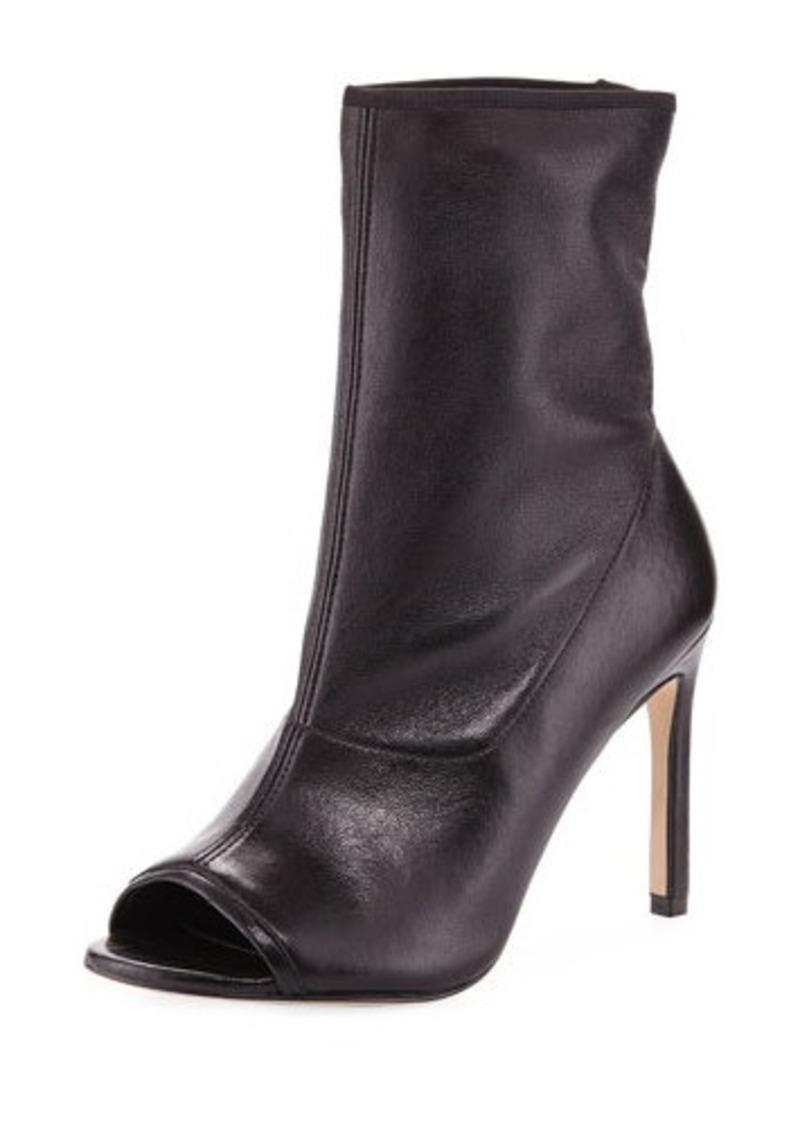 stuart weitzman stuart weitzman koko open toe bootie shoes shop it to me. Black Bedroom Furniture Sets. Home Design Ideas