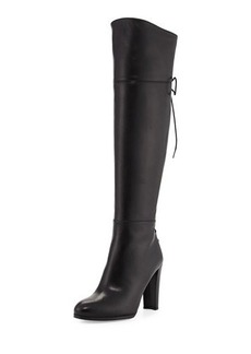 Stuart Weitzman Lacemeup Leather Over-The-Knee Boot