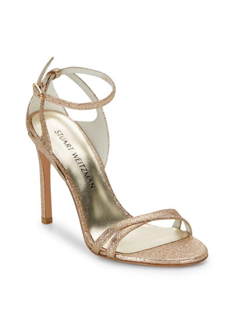Stuart Weitzman Speedy Leather Stiletto Sandals