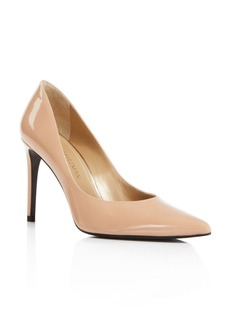 Stuart Weitzman Legend Patent Leather High Heel Pointed Toe Pumps