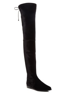 Stuart Weitzman Leggylady Velvet Over The Knee Boots